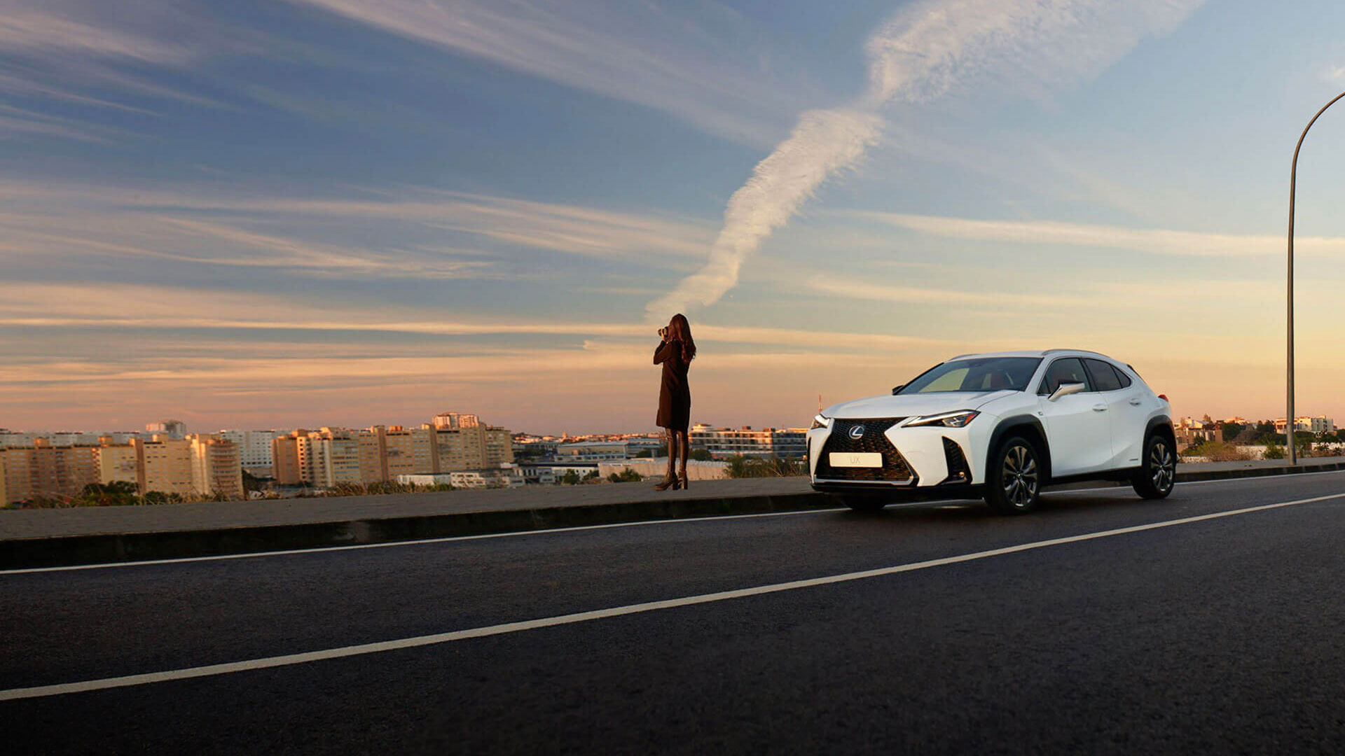 2019 lexus ux sunrise to sunrise campaign banner