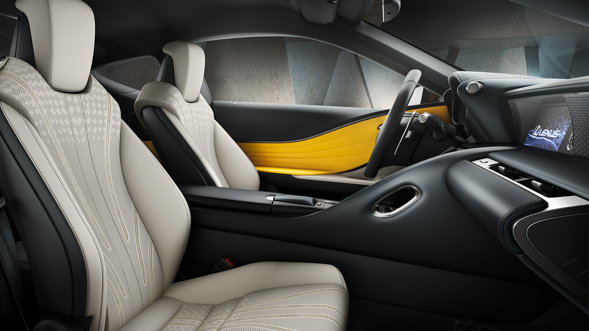 2018 lexus lc yellow gallery interior 004
