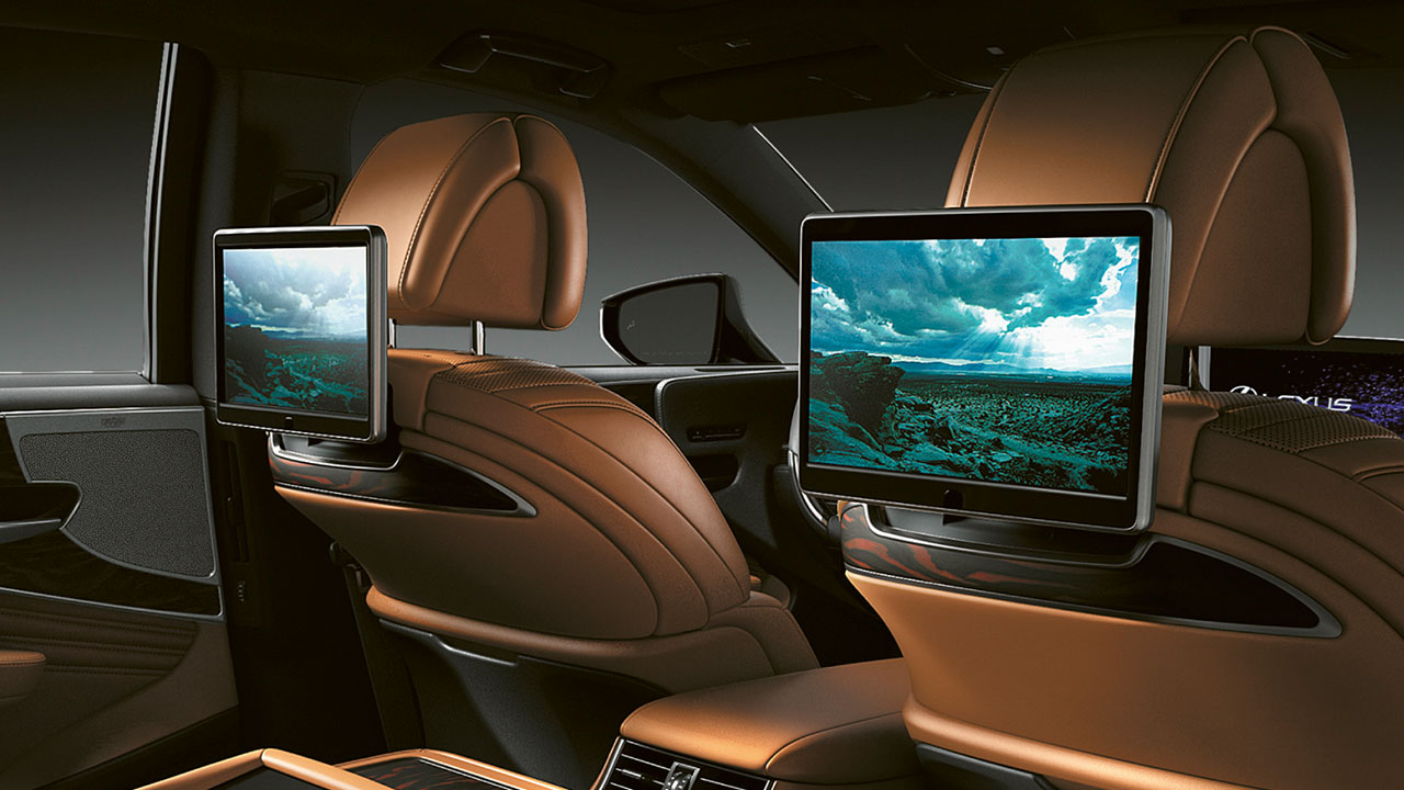 2020 lexus ls experience rear seat entertainment
