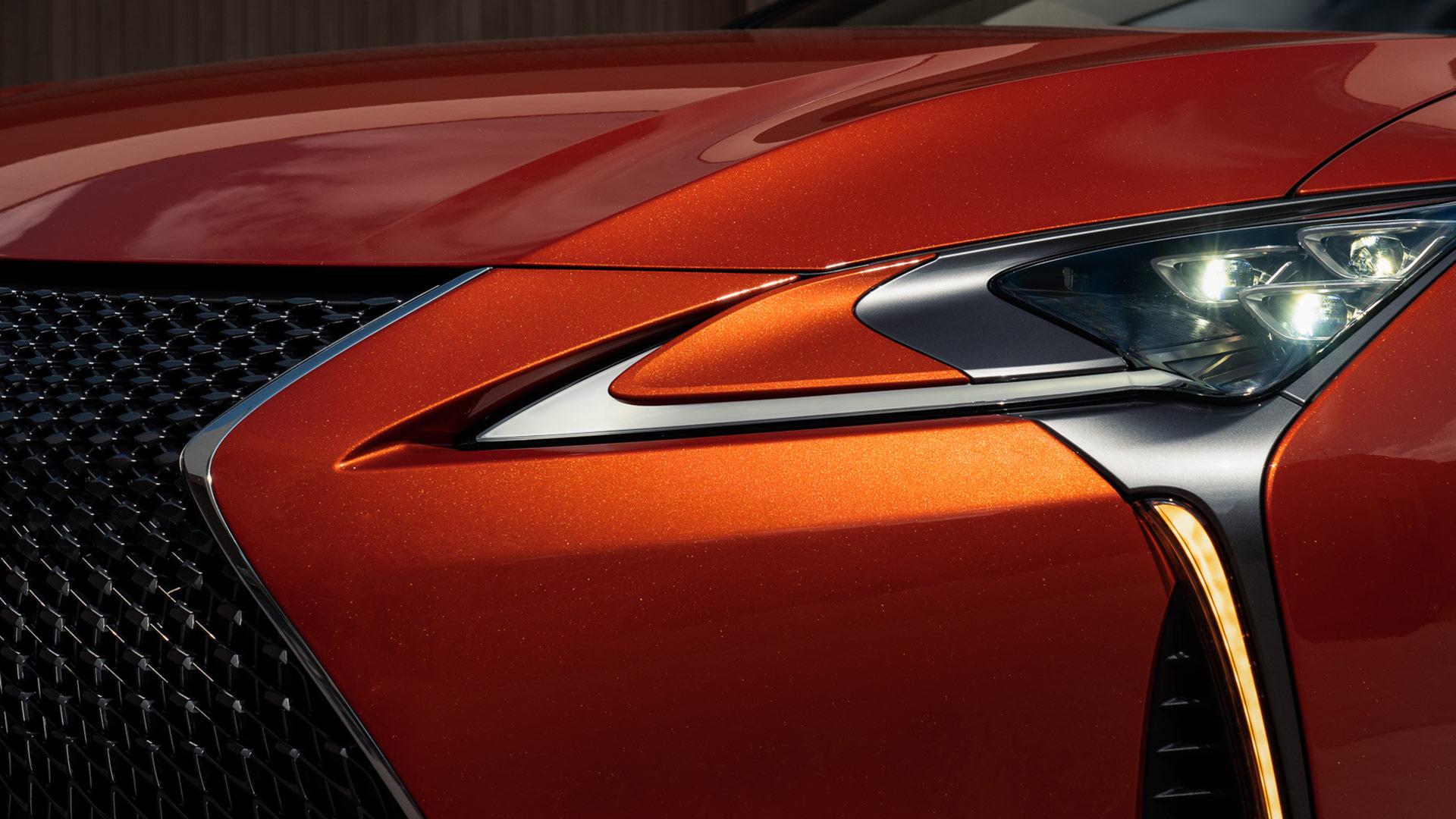 Lexus LC Sunsetorange
