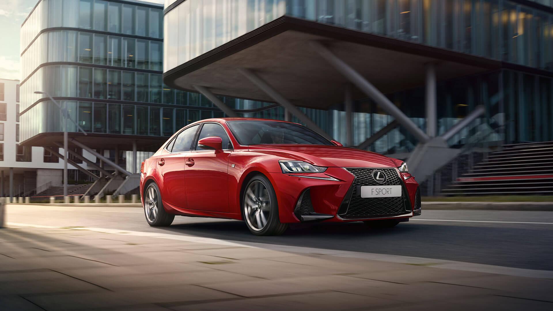 Lexus IS rot Seitenansicht
