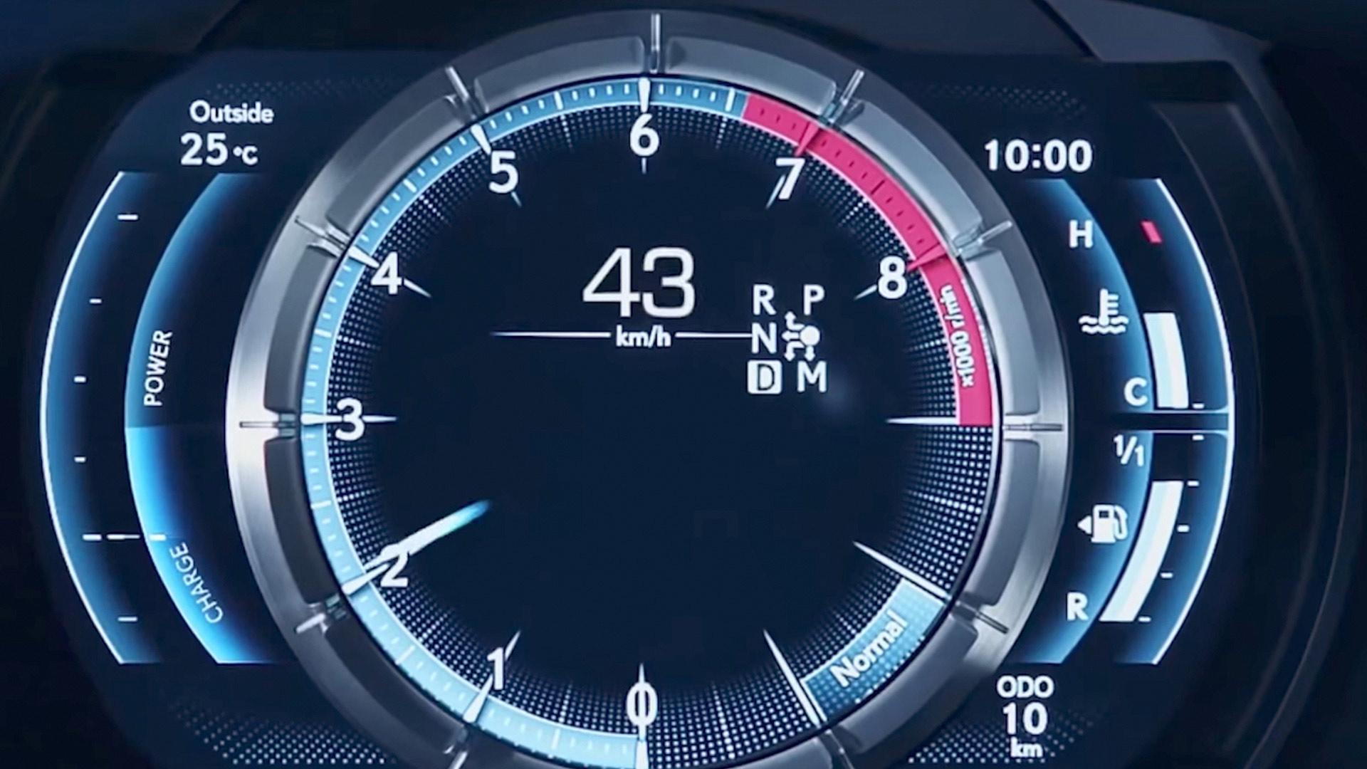 Lexus LC 500h Hybrid Tacho