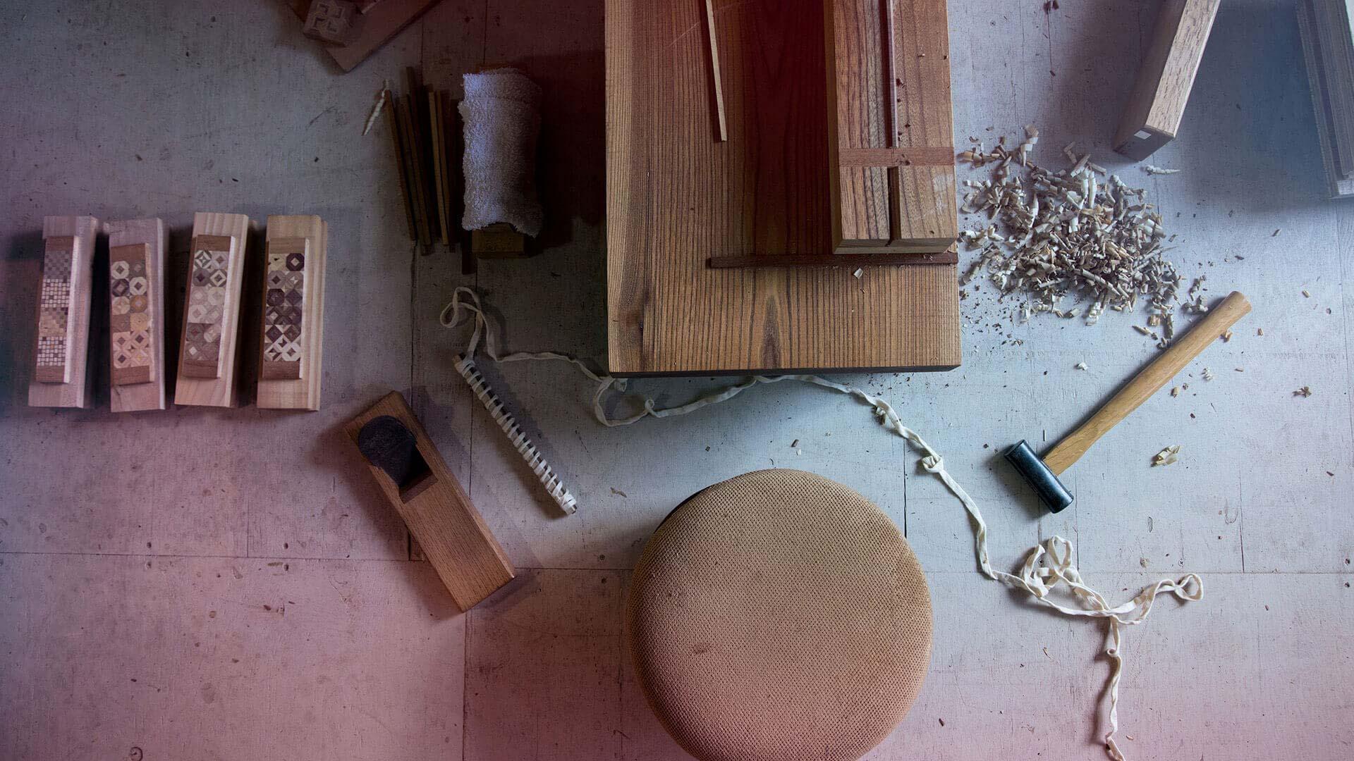 Japanische Handwerkskunst und Werkzeug