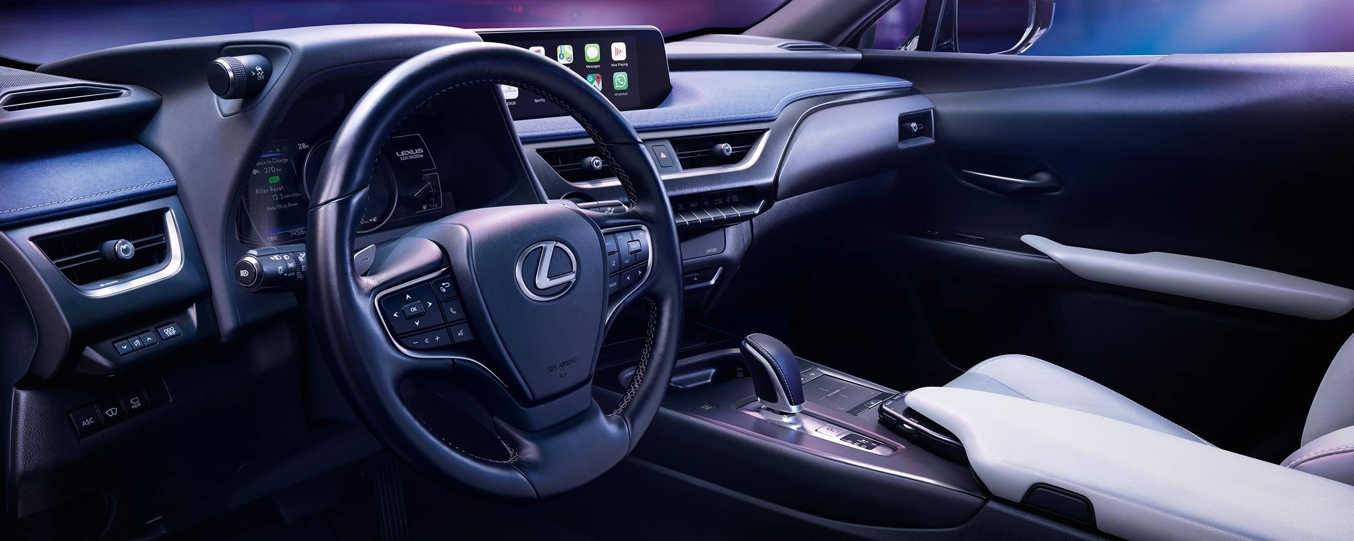 2020 lexus ux ev experience interior front