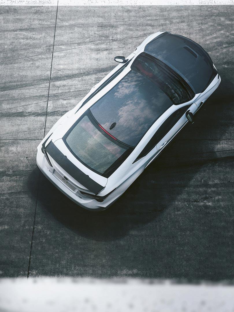 Lexus RC F von oben
