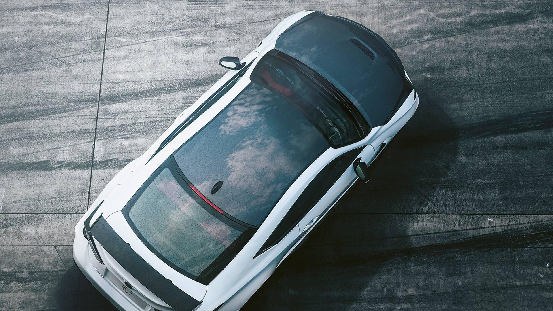 Lexus RC F Vogelperspektive