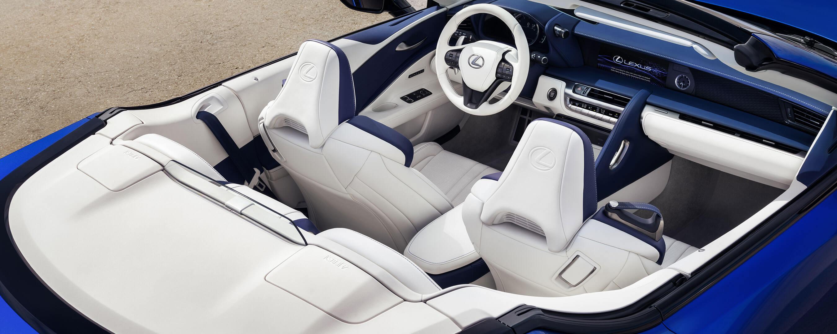2020 lexus lc convertible experience interior back