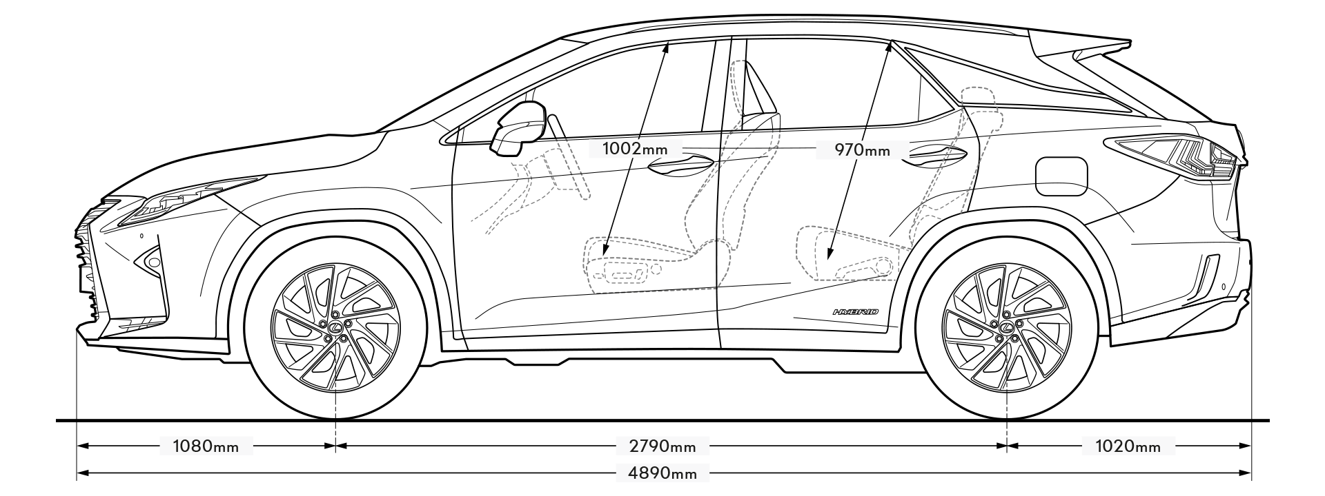 RX Side Dimensions Image