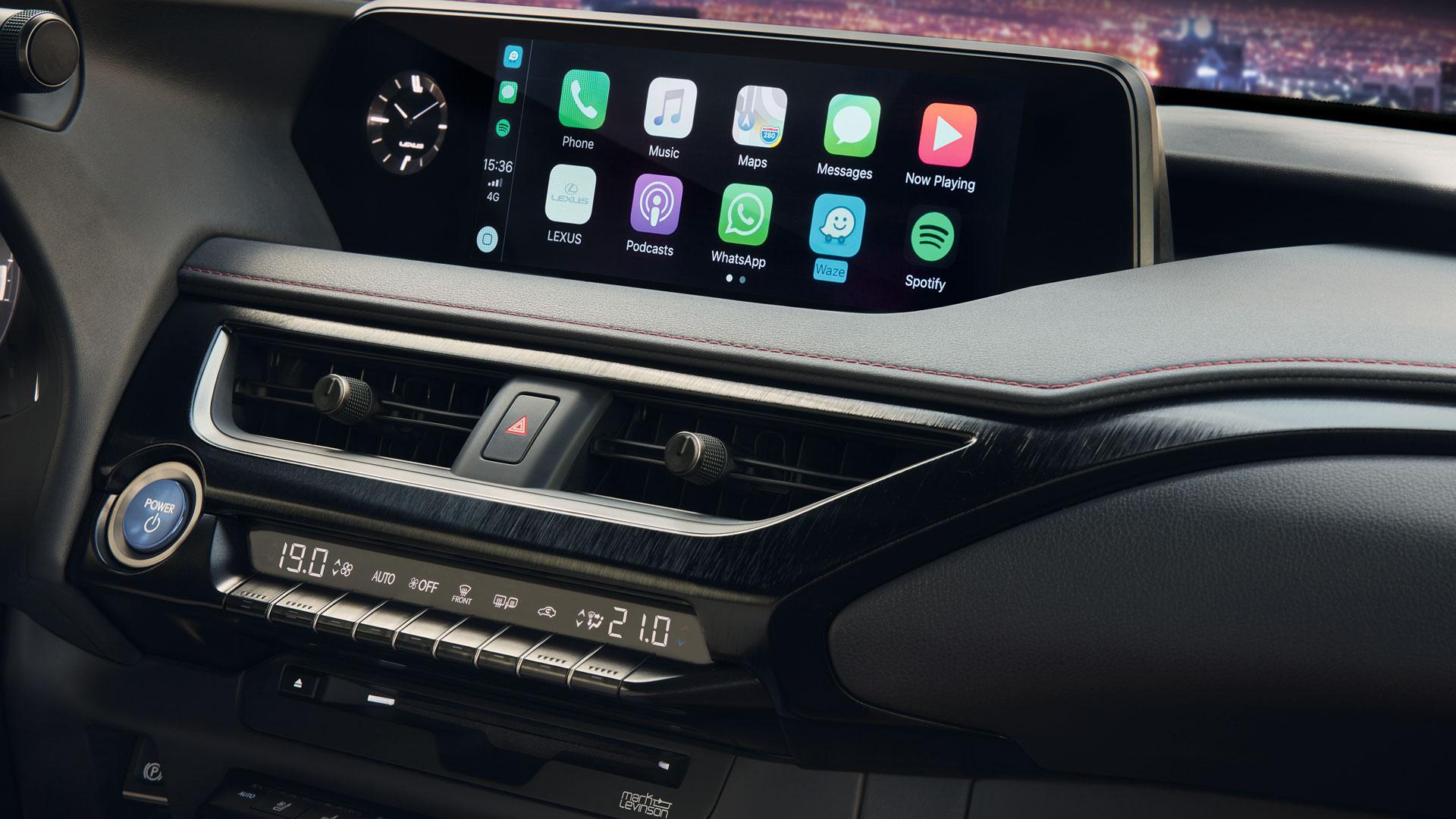 Imagen del navegador de un vehículo Lexus