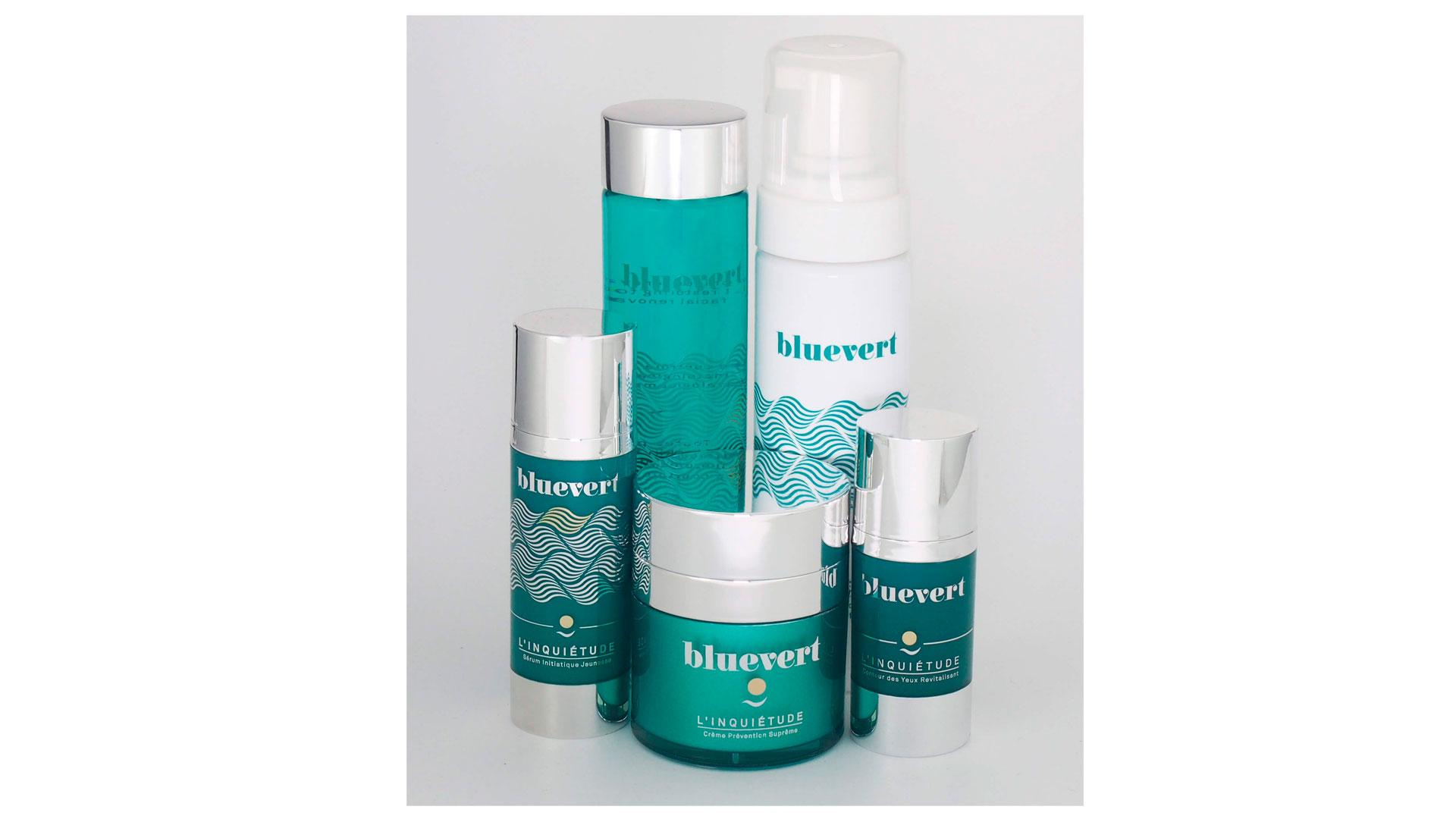 Imagen de la gama de productos cosméticos Bluevert