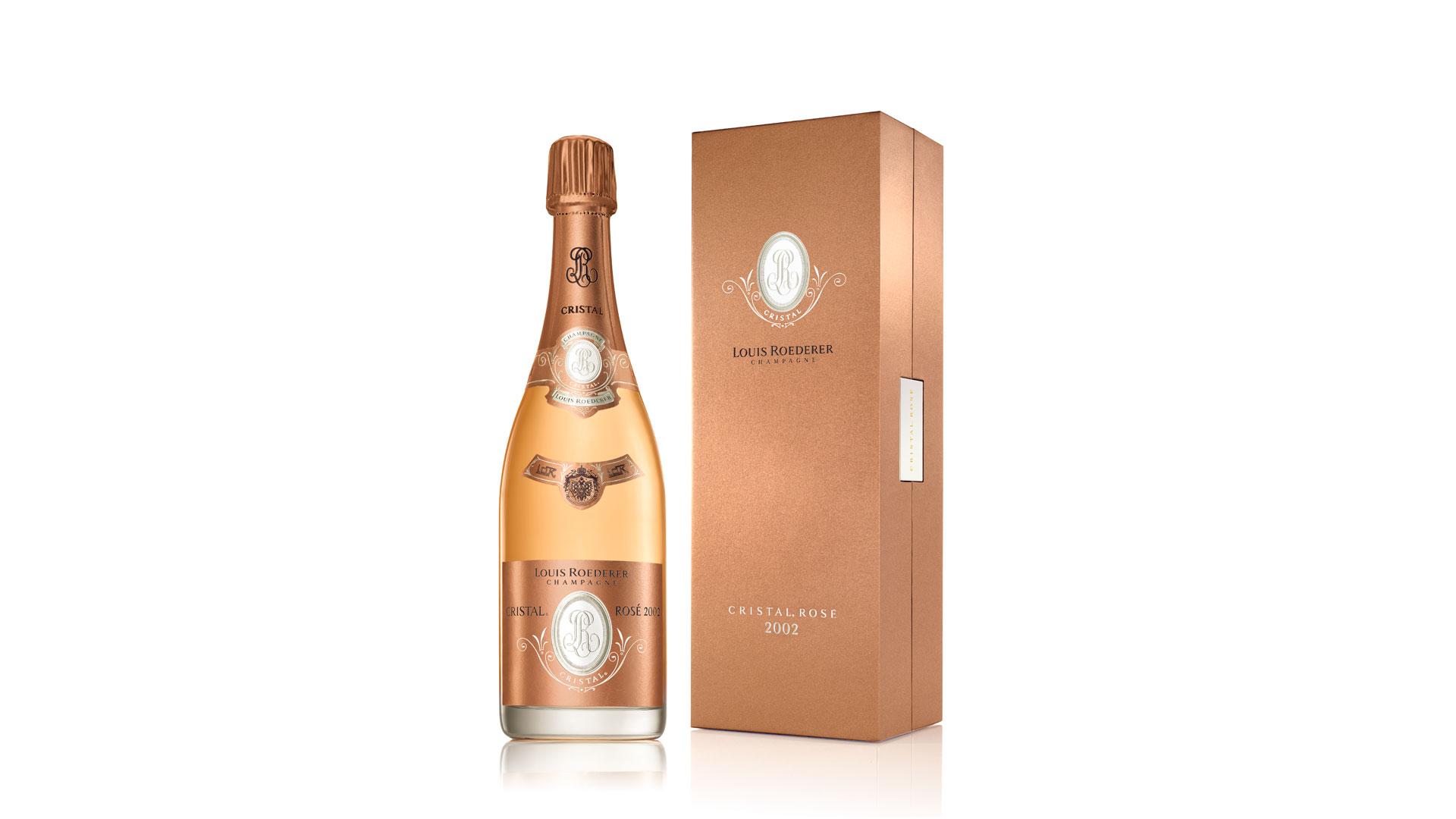 Imagen del champagne Cristal Rosé de Louis Roederer