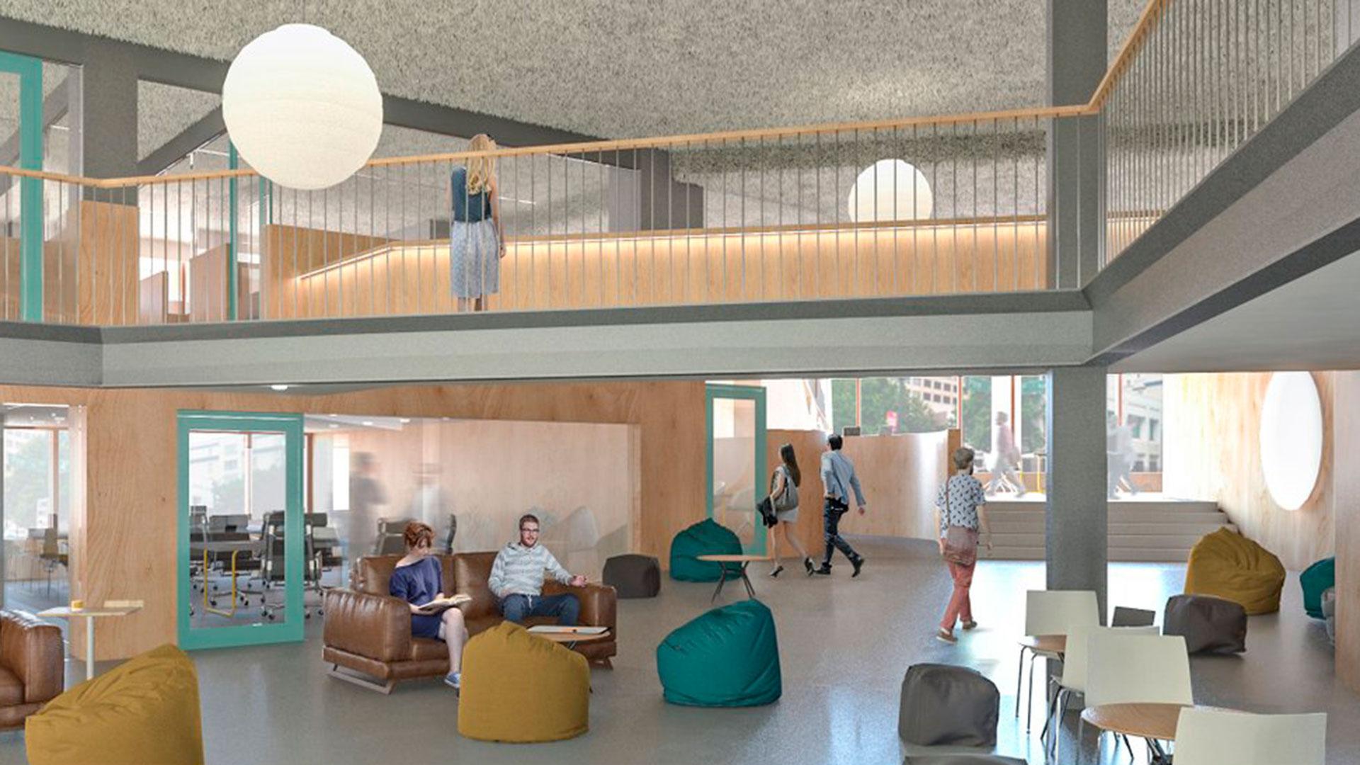 Imagen de uno de los espacios del Impact Hub Barceló en Madrid