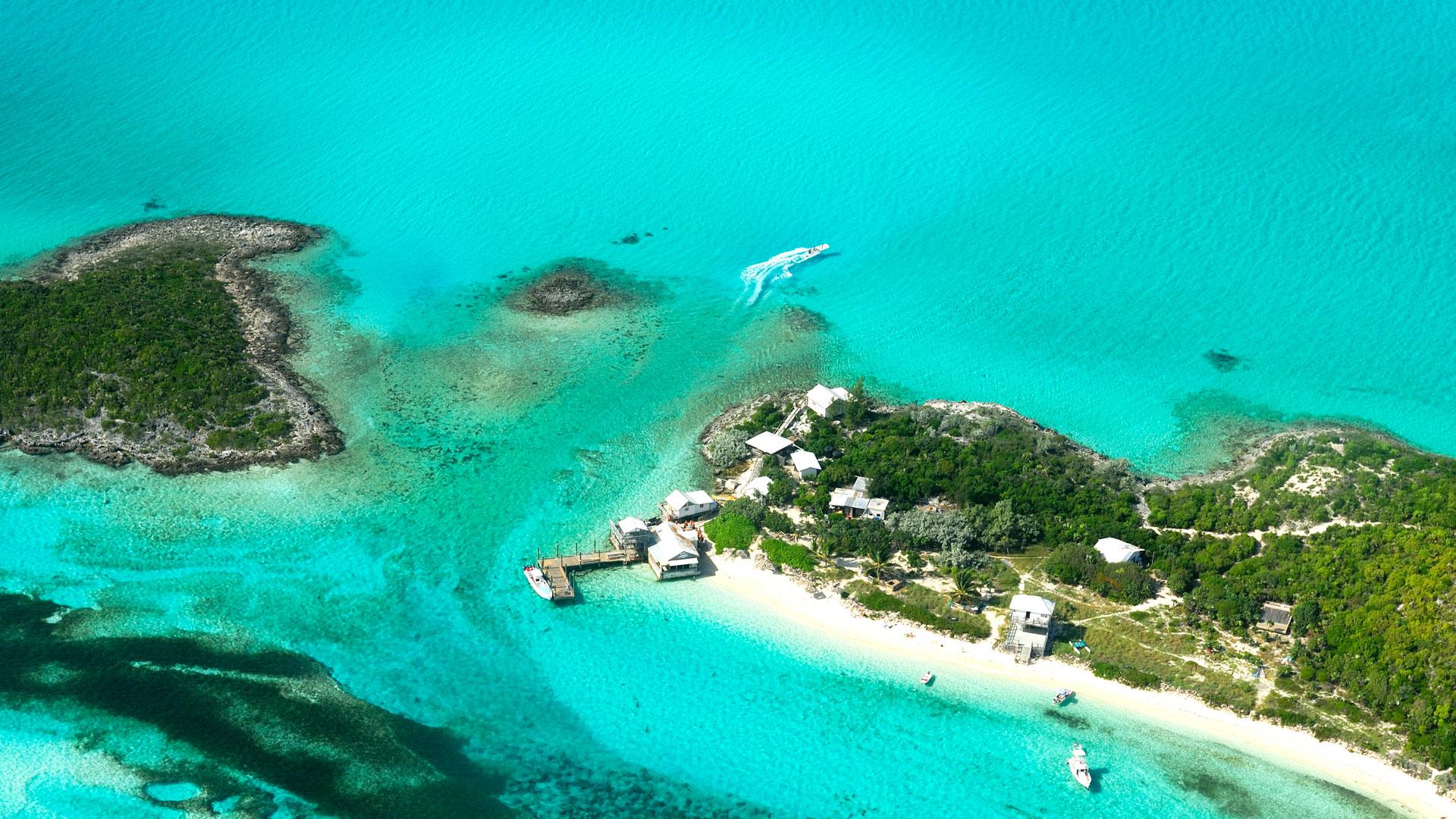 Imagen del archipiélago de Las Bahamas