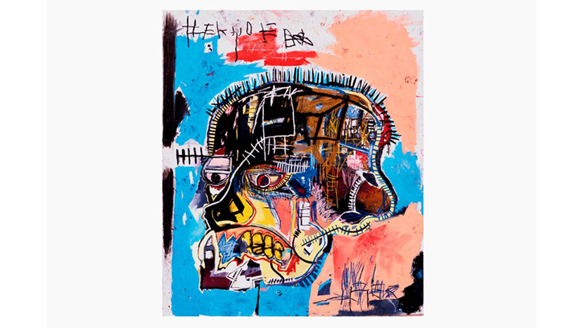 Imagen de pintura realizada por el artista Jean Michel Basquiat