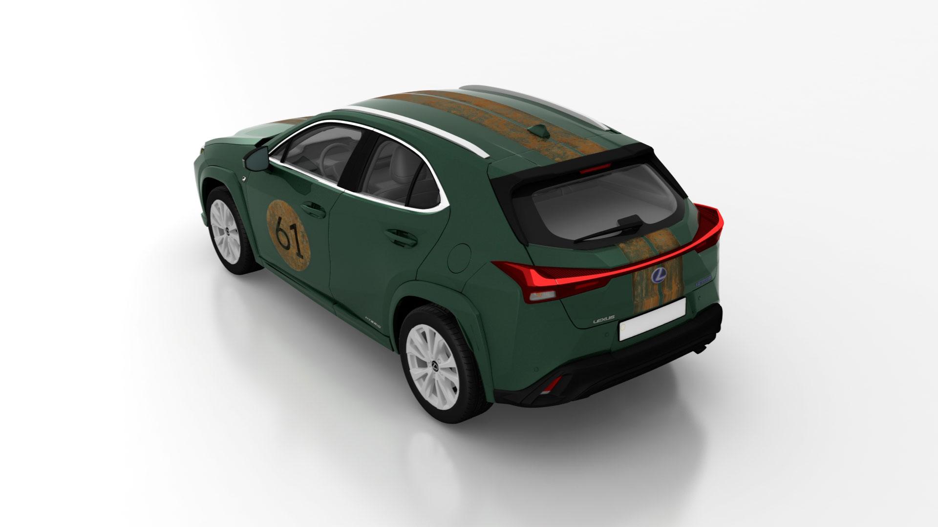 Diseño realizado por Francisco Segarra para el concurso Lexus UX Art Car