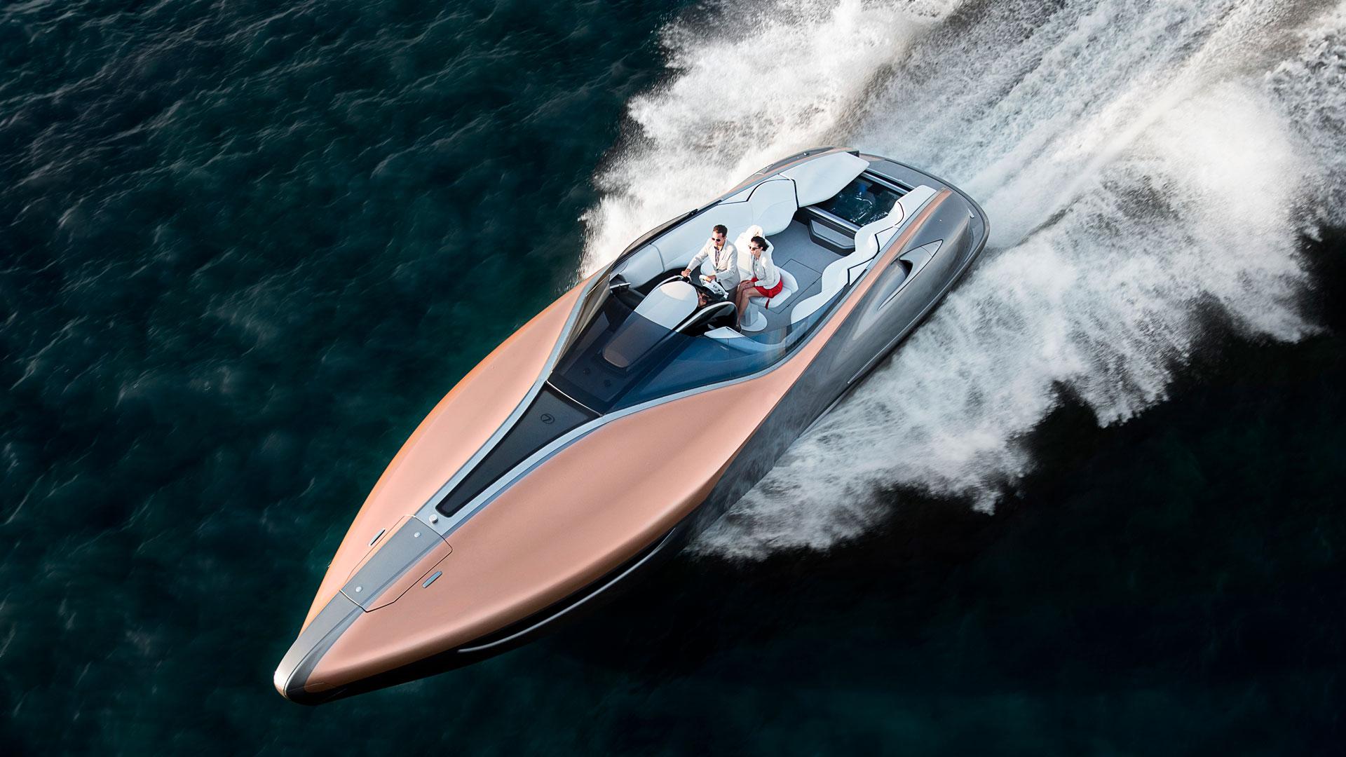 El concepto Sport Yacht de Lexus se ha creado en colaboración con Marquis Larson Boat Group