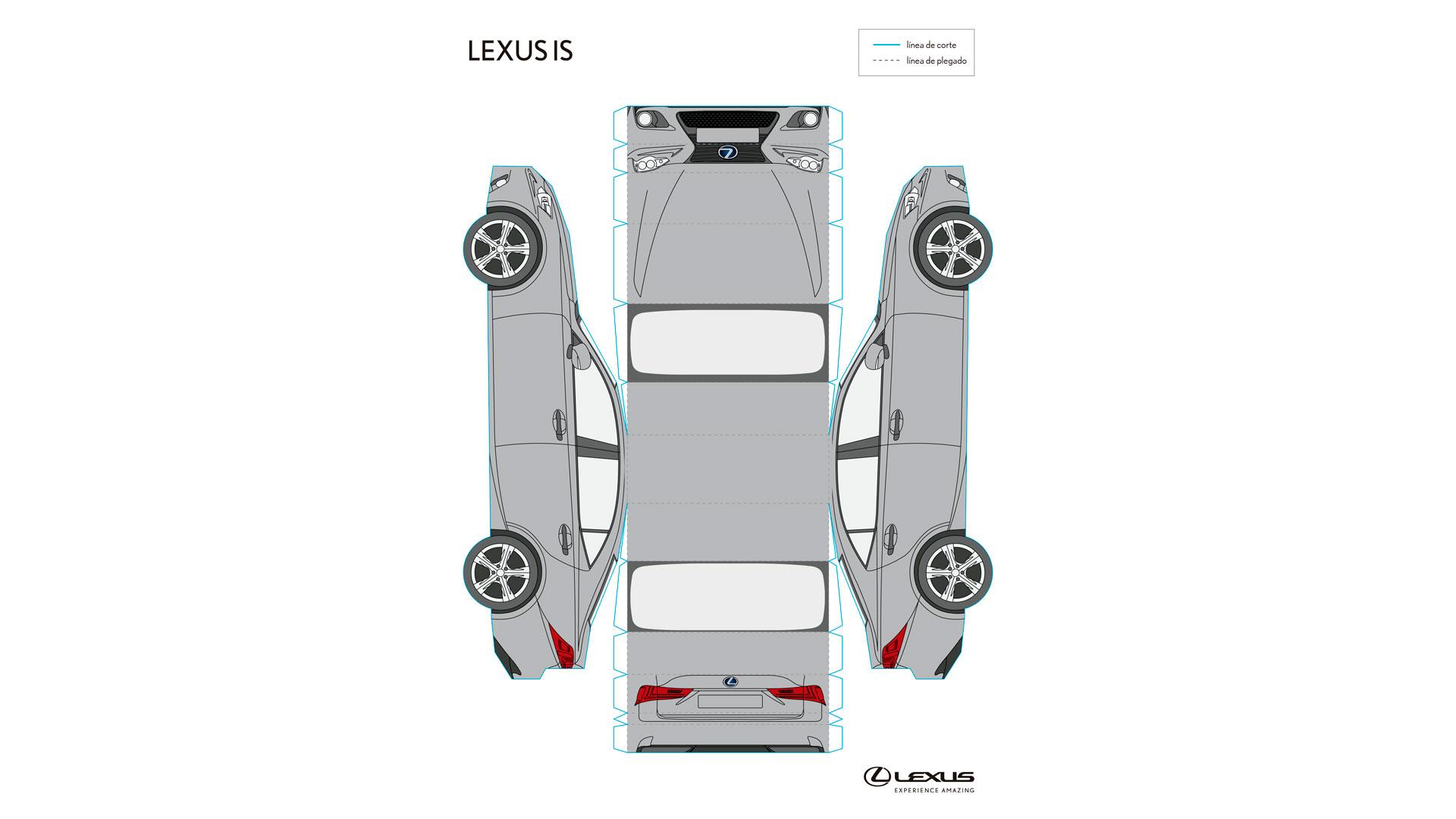 Imagen de un recortable del Lexus UX