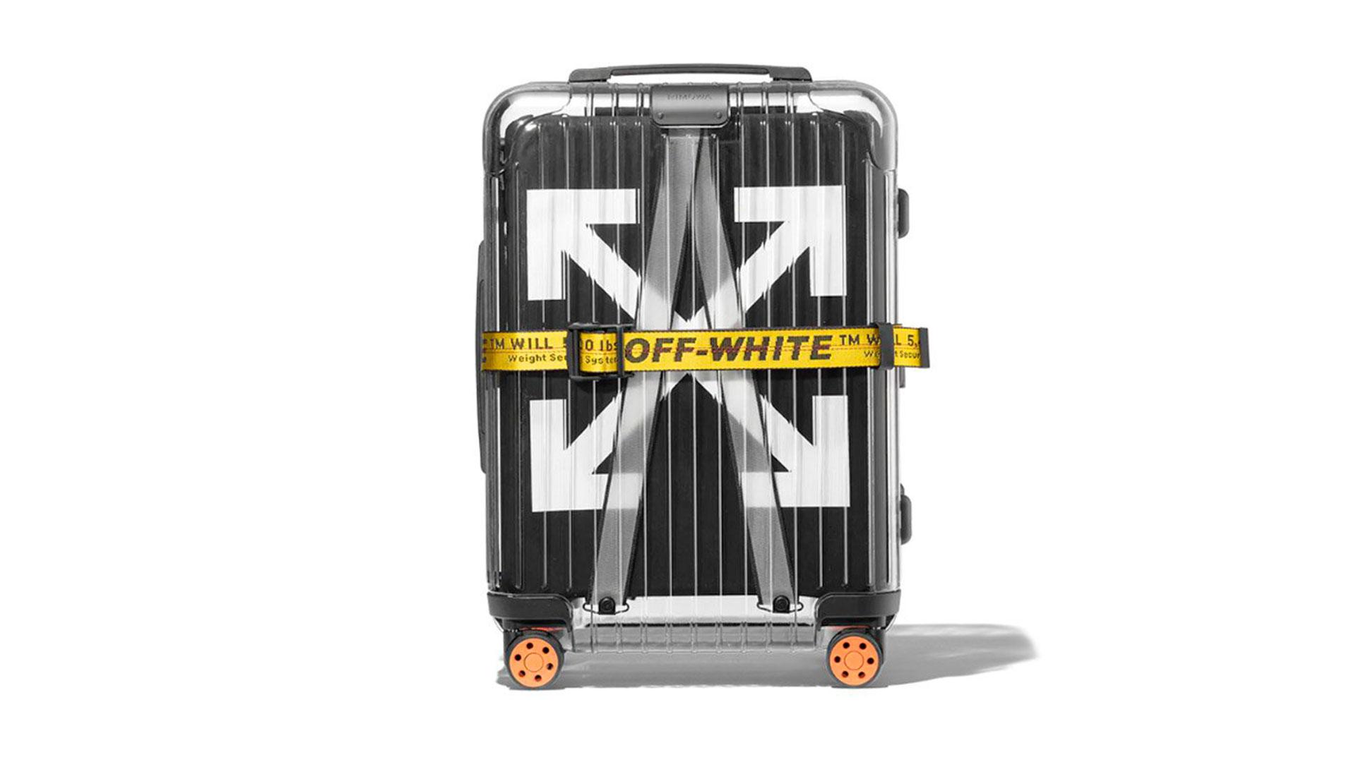 Imagen de las maletas diseñadas por Virgil Abloh para Rimowa