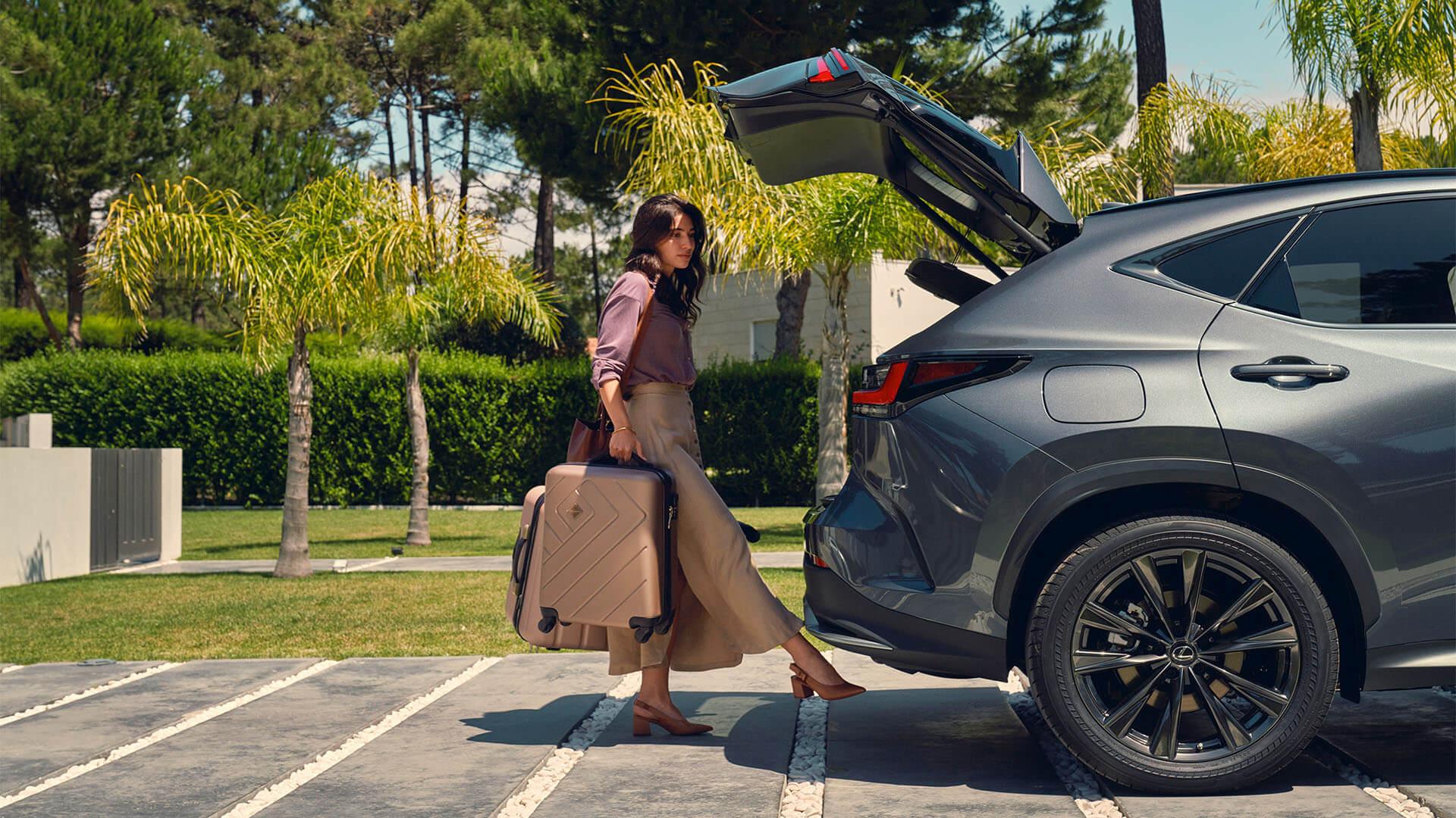 2021 lexus nx experience exterior back power tailgate