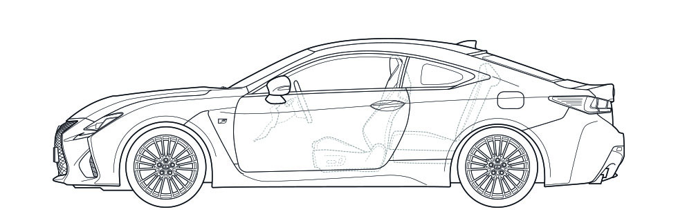 RC F Side Dimensions