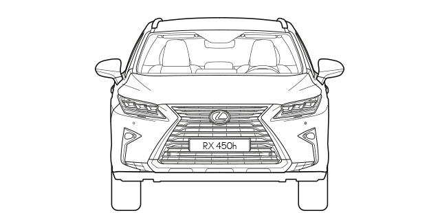 RX Front Dimensions