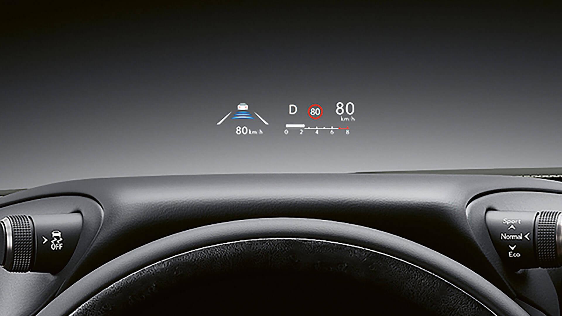 2022 lexus es experience interior front head up display