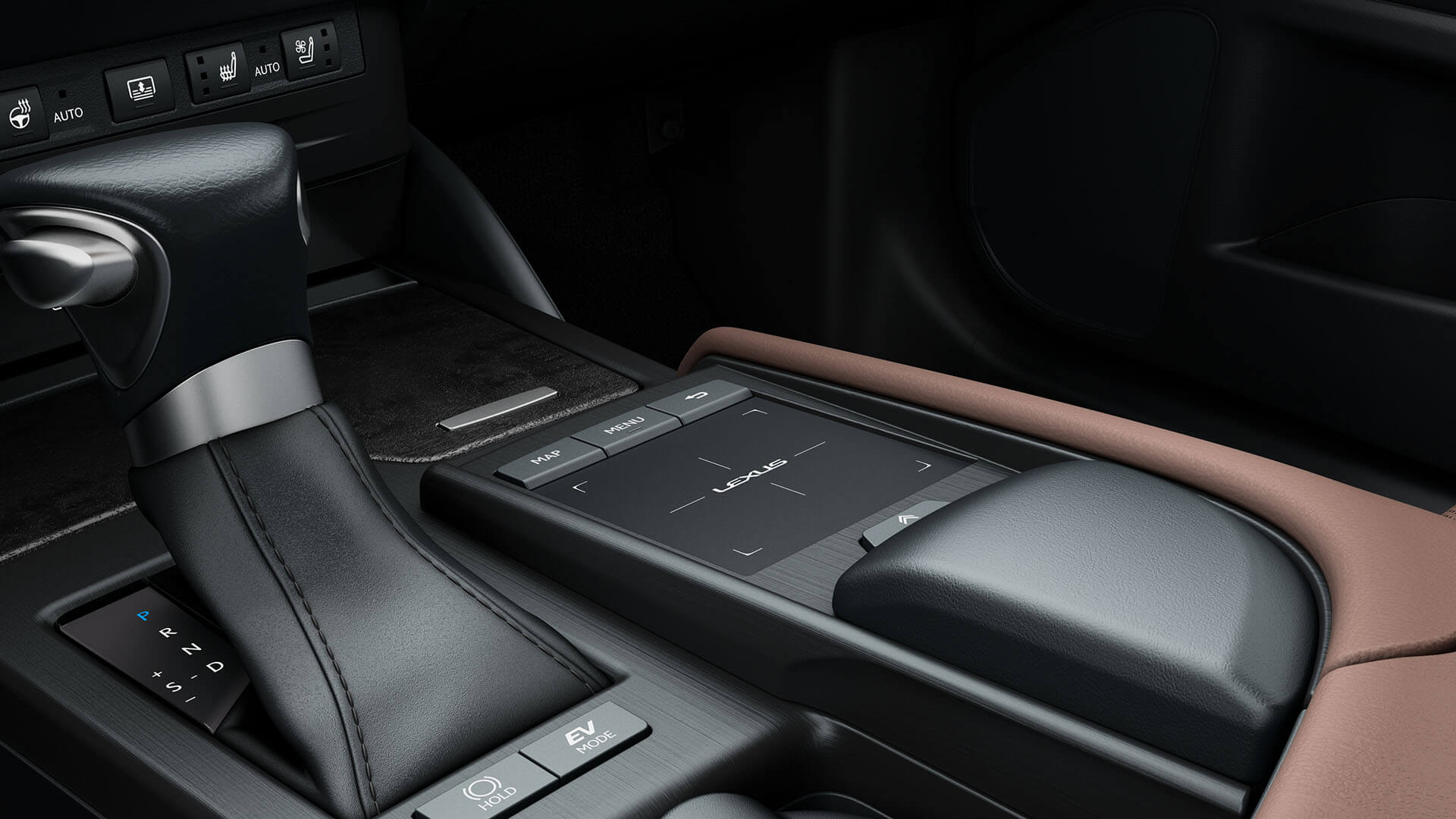 2022 lexus es experience interior front touch pad