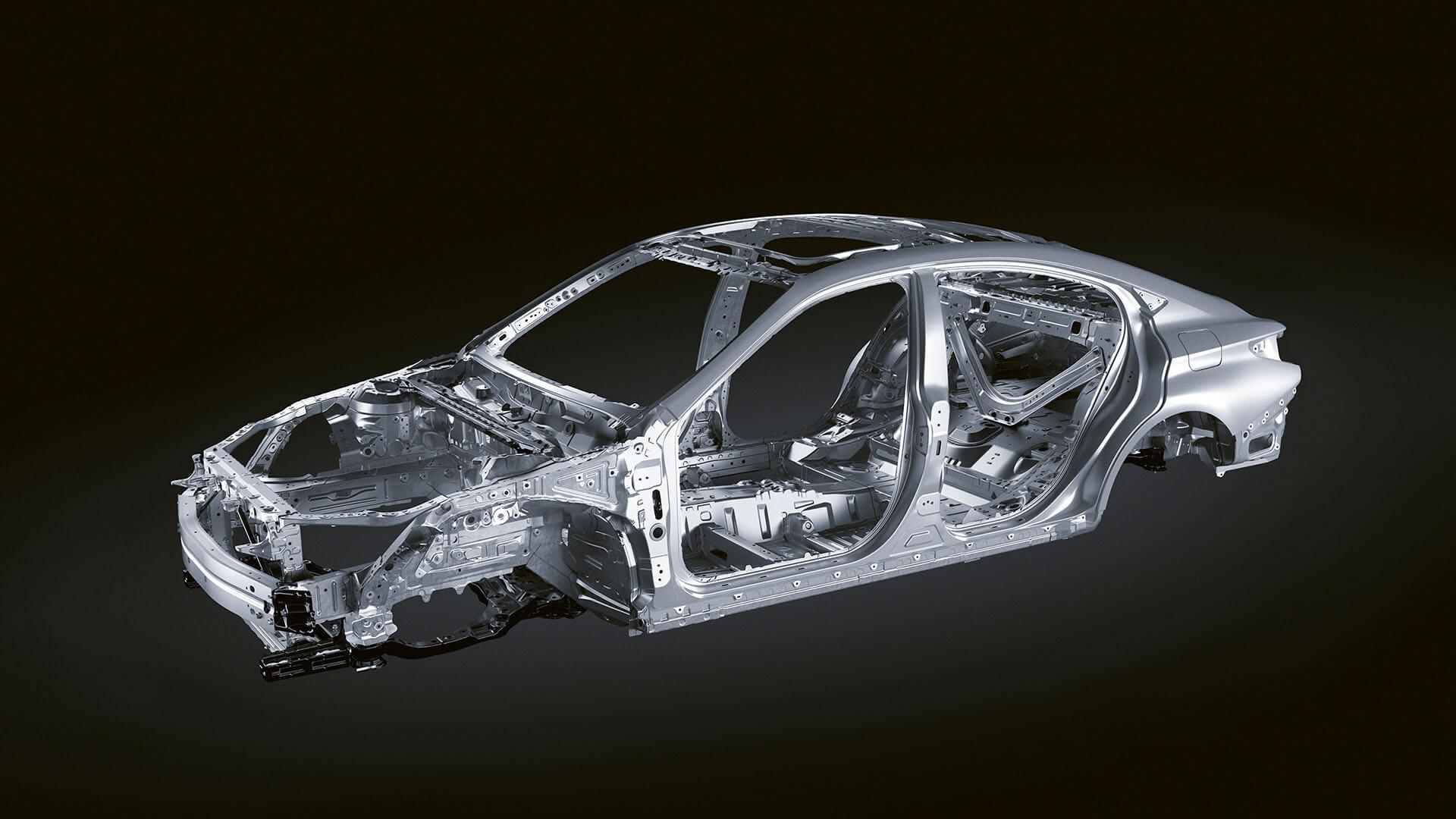 2022 lexus es experience exterior back high rigidity lightweight body
