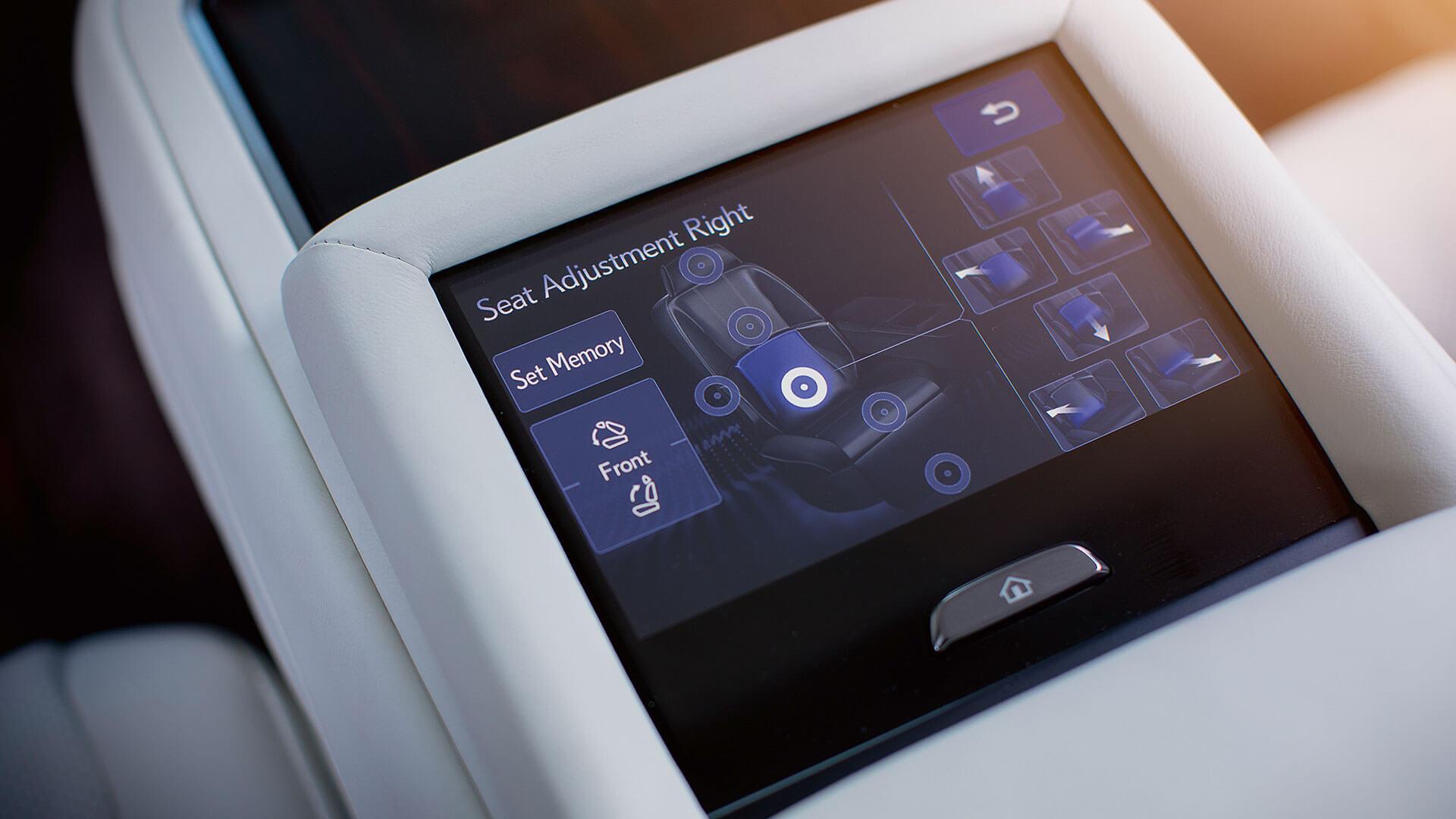 2018 lexus ls features rear seat adjustment ottoman massage