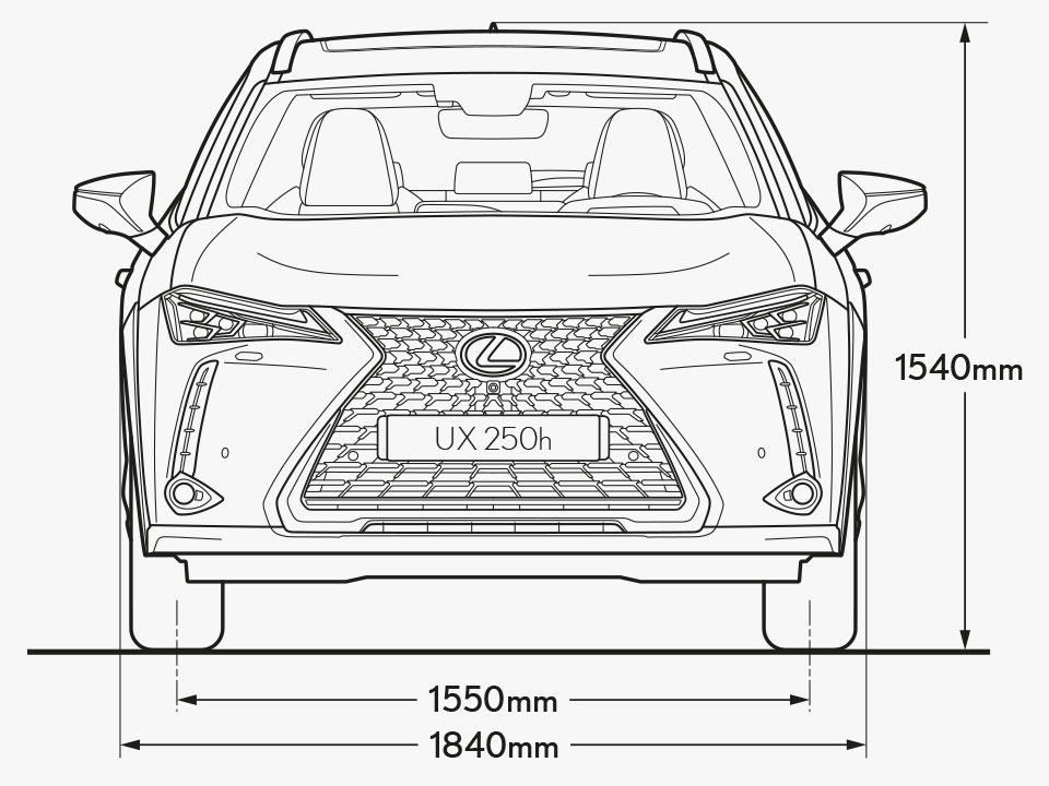 UX Front Dimensions Image