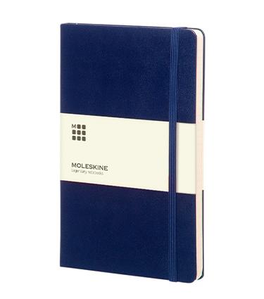 notebook agenda blu