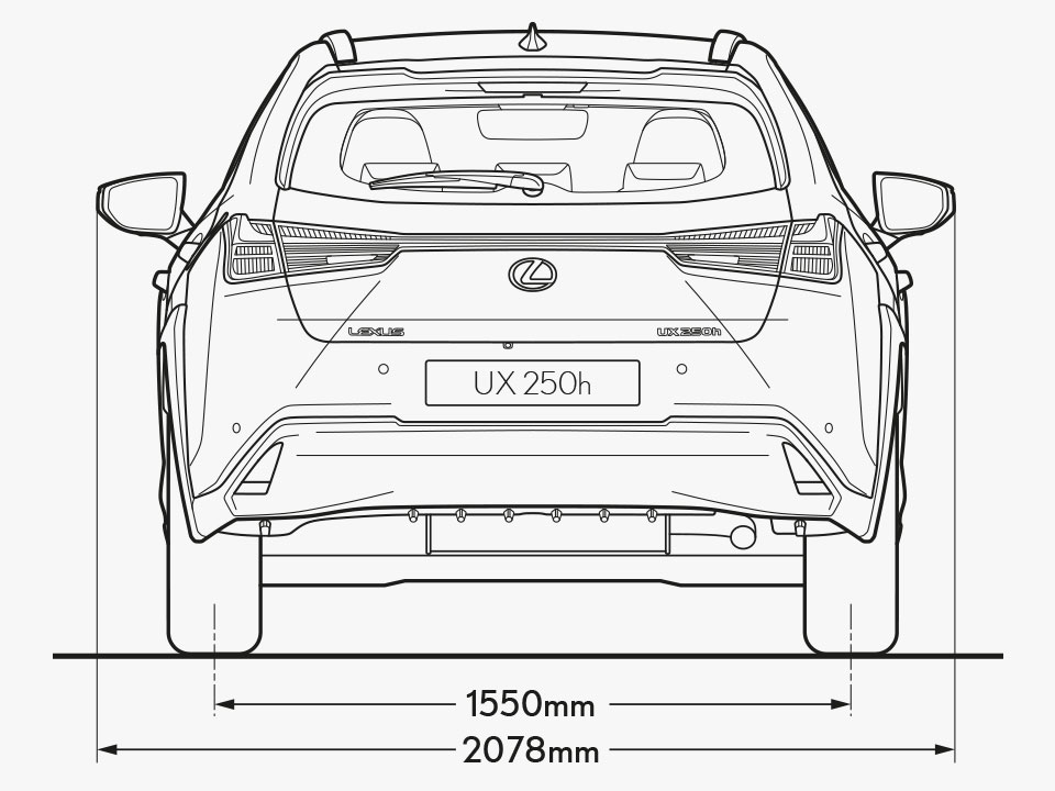 UX Rear Dimensions Image
