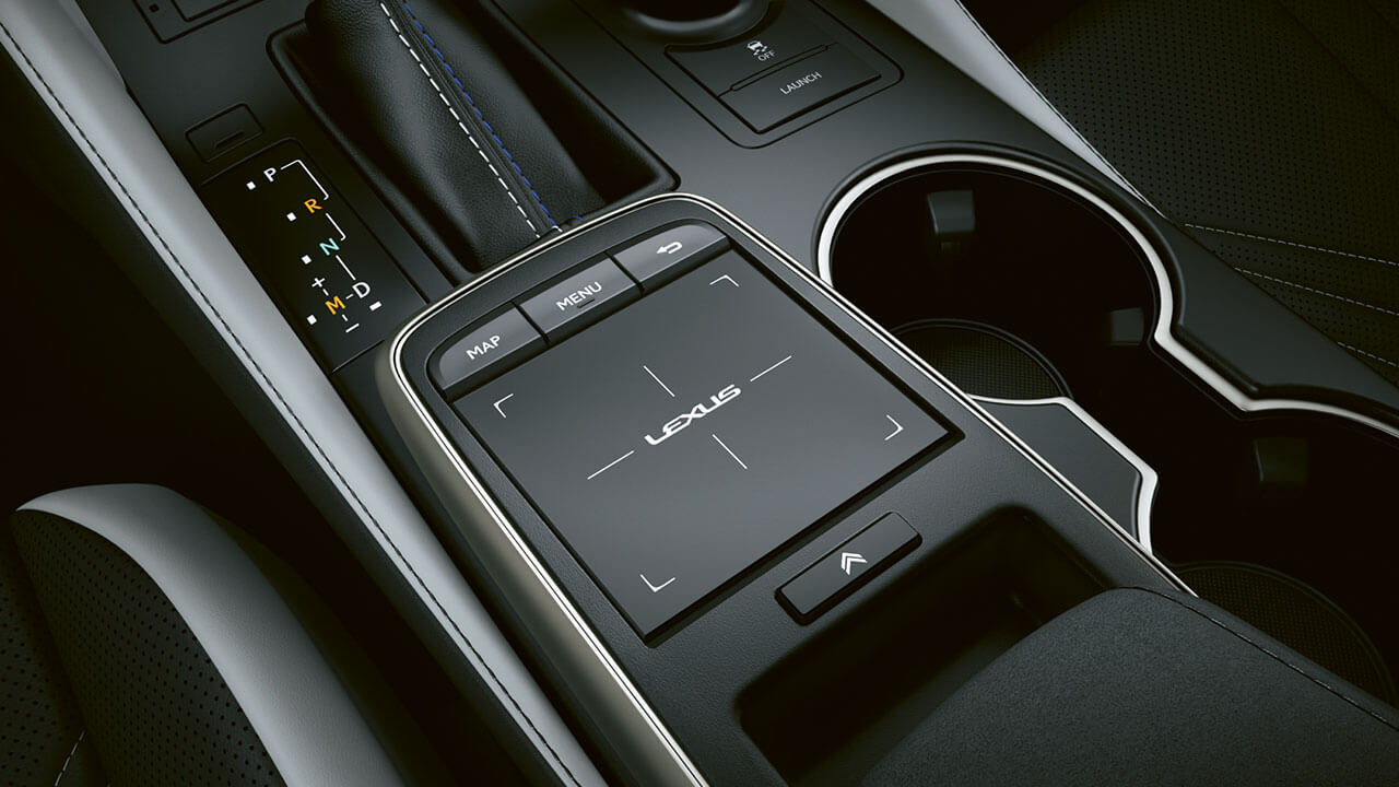 2021 lexus rc f experience hotspot interior touch pad