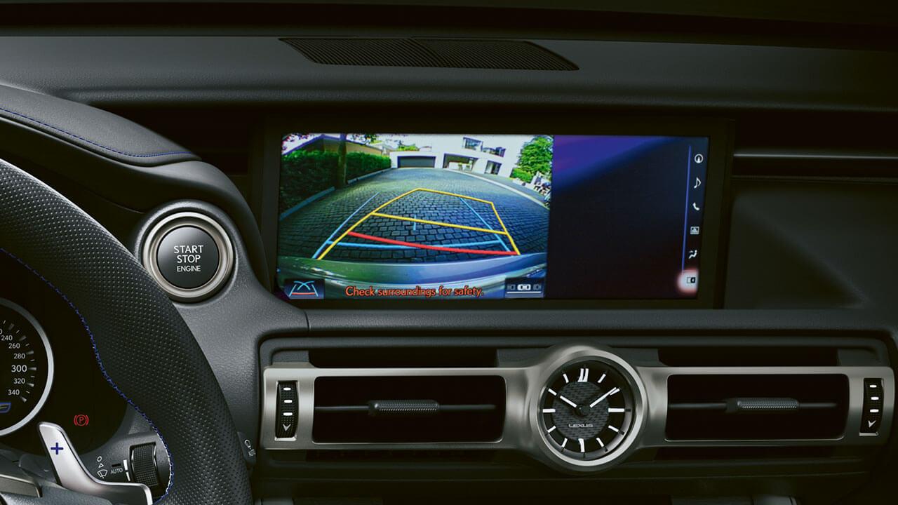 2021 lexus rc f experience hotspot interior parking assist monitor
