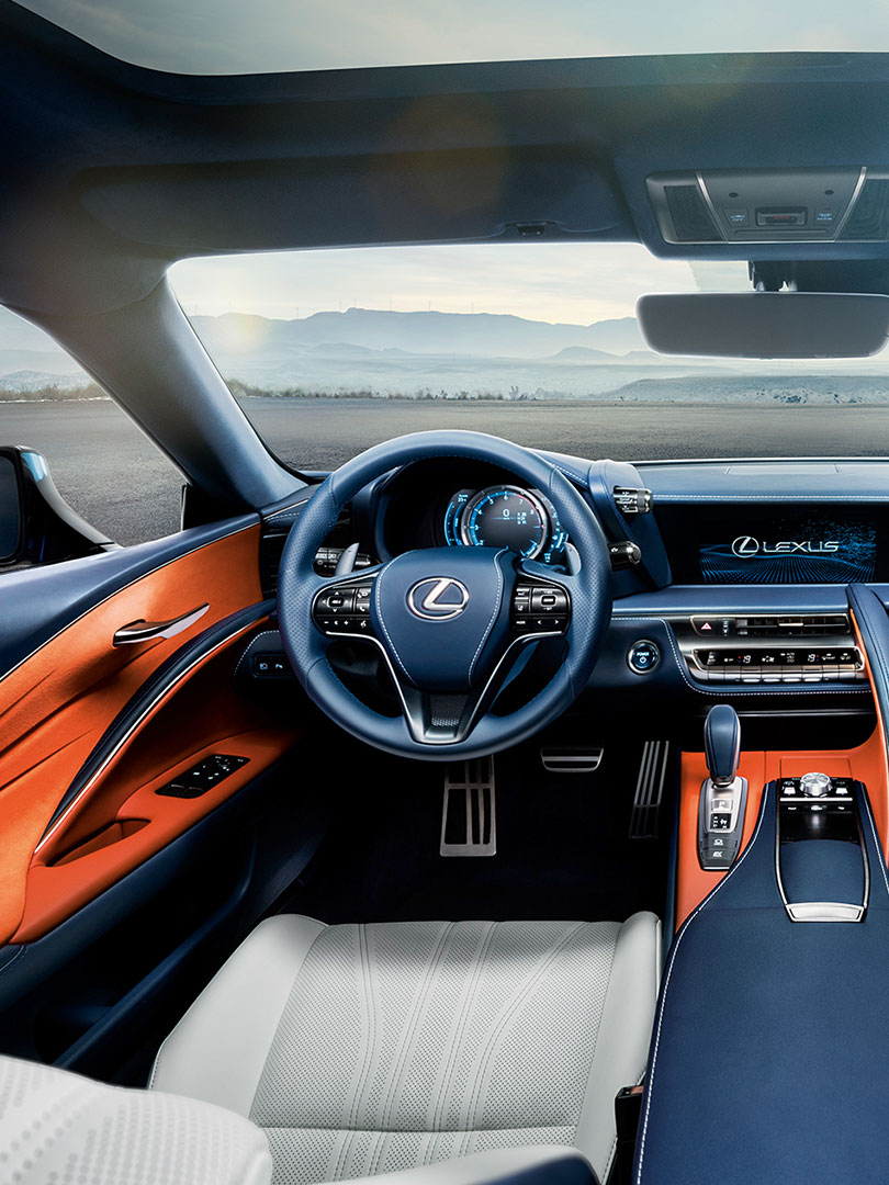 2018 lexus lc blue additional features