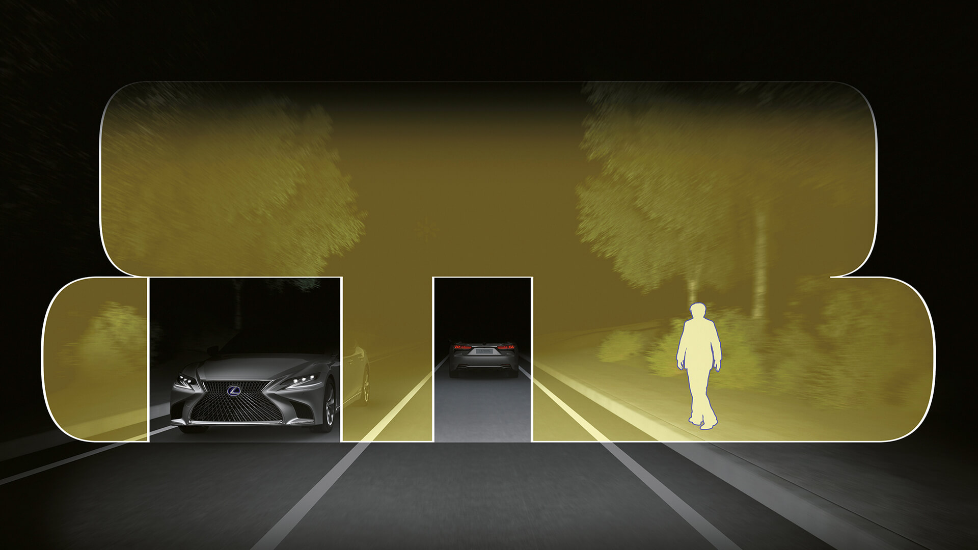 Lexus adaptive high beam
