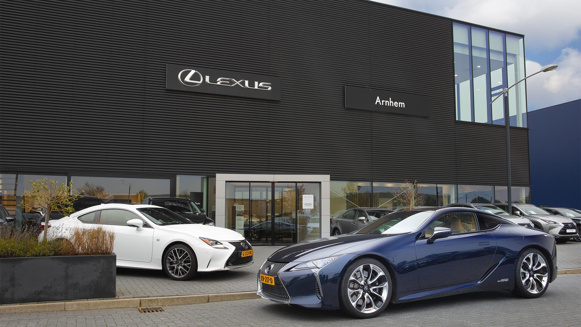 Afbeelding van het pand van Lexus Arnhem