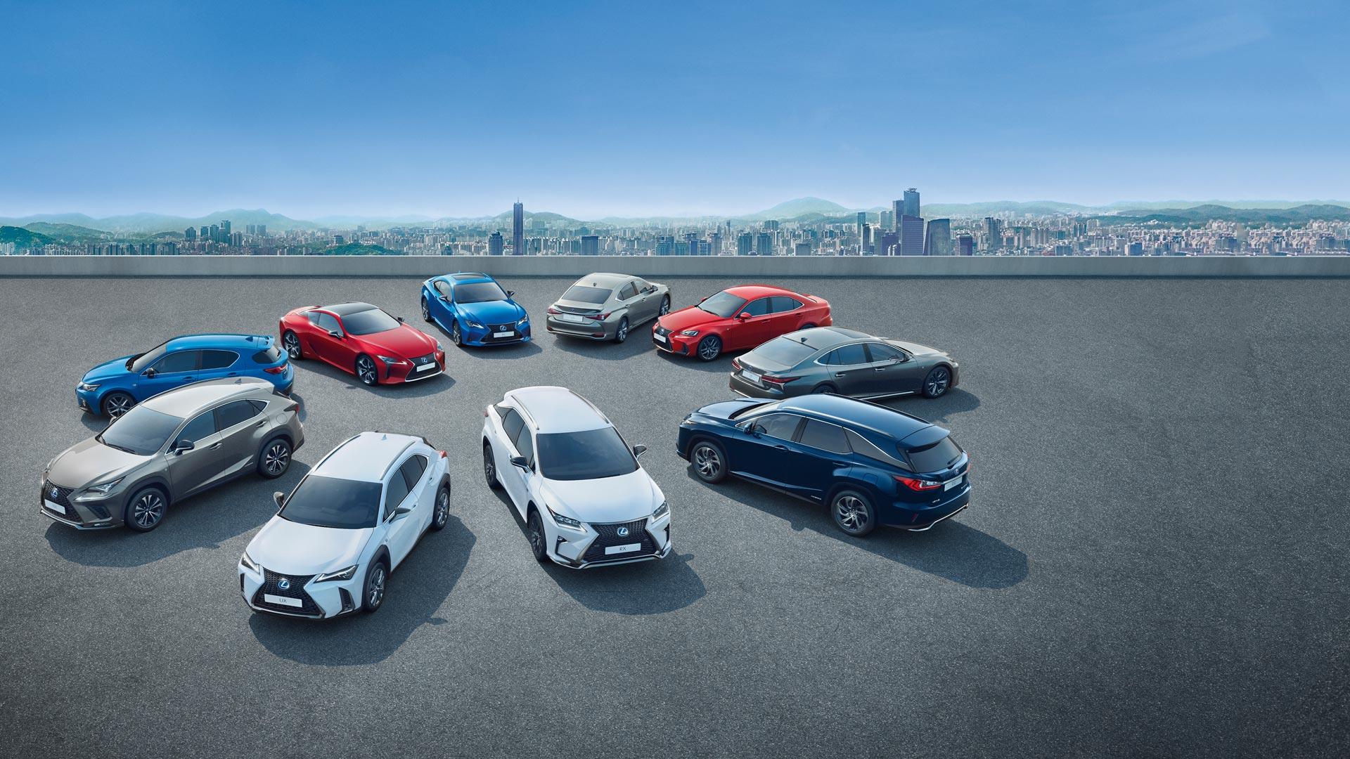 De volledige Hybrid range van Lexus