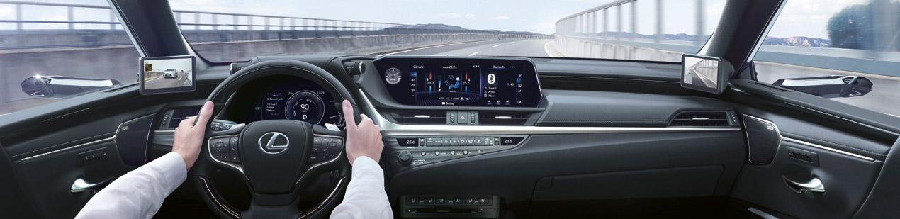 2020 006 digitale buitenspiegels voor Lexus ES 1920 extended