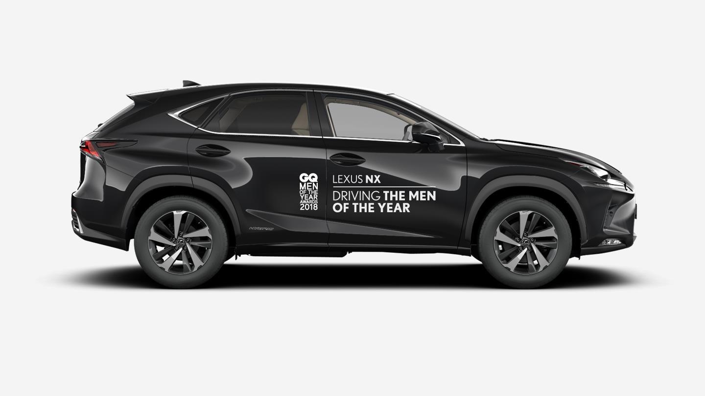 Homens do Ano GQ de boleia no Lexus NX