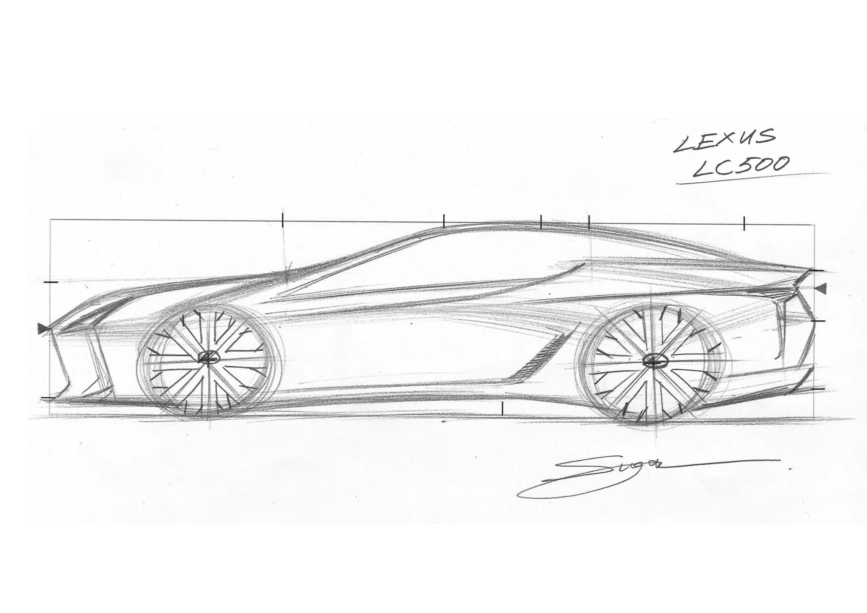 Lexus mostra fas como desenhar Image