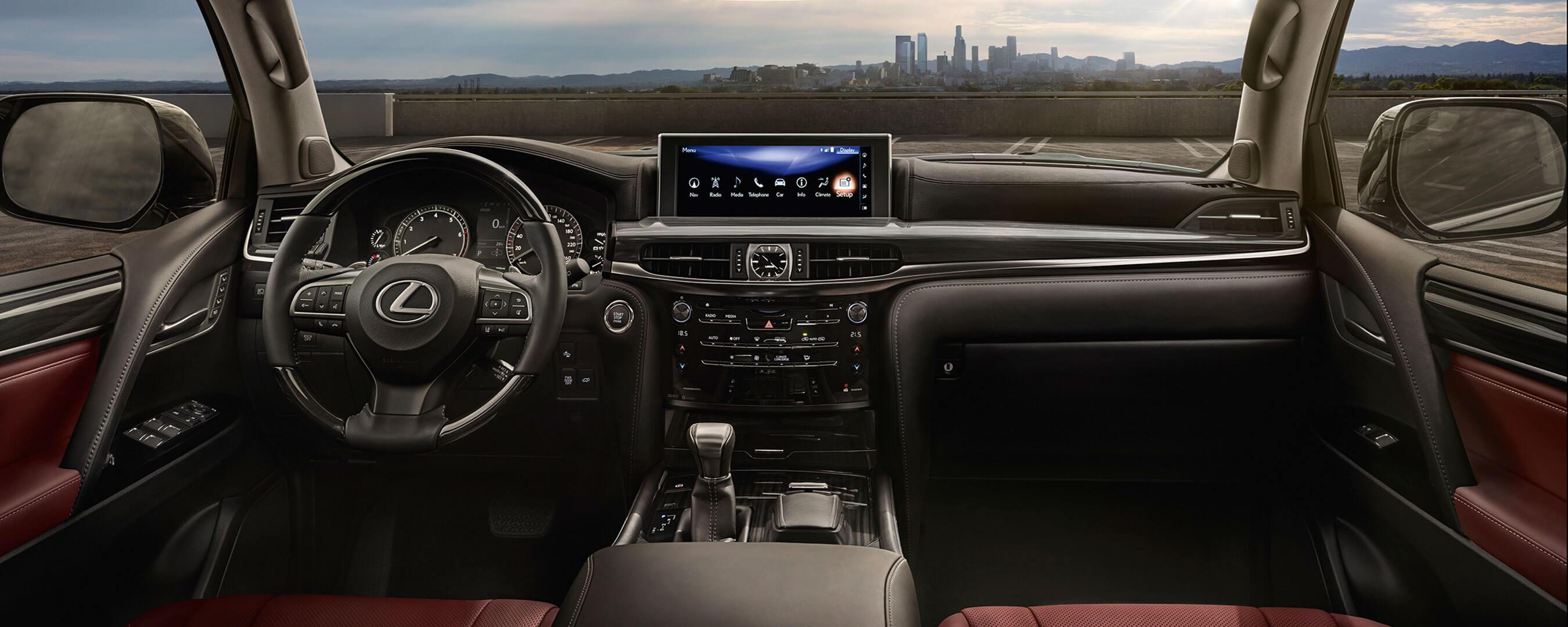 2017 lexus lx 570 experience hero interior front