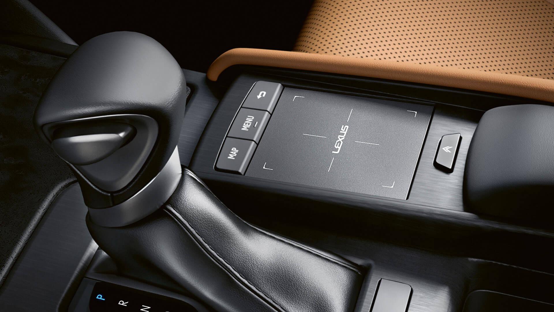 2022 RU lexus es experience interior front touch pad